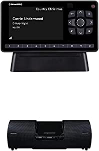 SiriusXM SXEZR1H1 Onyx EZR Satellite Radio with Home Kit + Boombox (SXSD2), Receive Free 3 Months Service with Subscription – Enjoy SiriusXM in Your Home or on Your Powered Audio Speakers