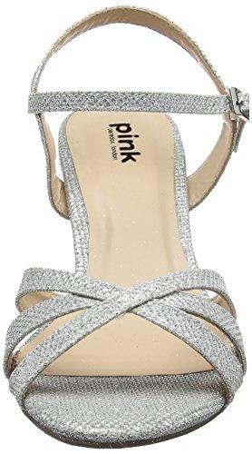 Pink Paradox silver Shelby Pulsera Para Con Sandalia Mujer Plata London F55wxrq1