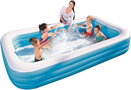 ZYRAY Piscina Inflable Rectangular, Piscina Inflable de Tres ...