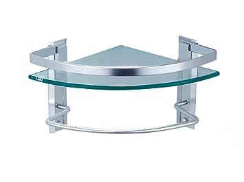 Zsshj mensole da bagno mensola alluminio in alluminio vetro
