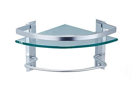 Mensole da bagno mensola alluminio in alluminio vetro temperato