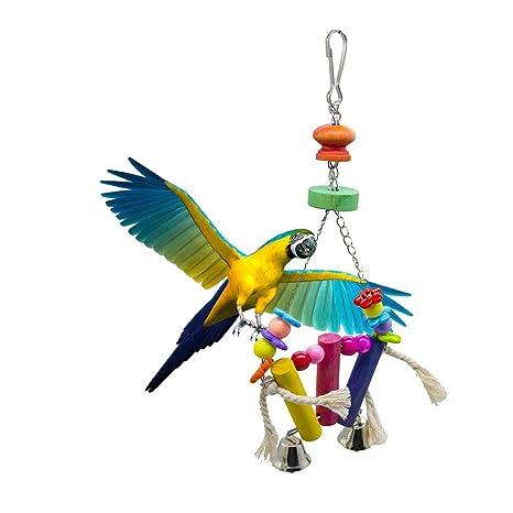 Danigrefinb Juguete para Loro, Jaula para pájaros Decorativa ...