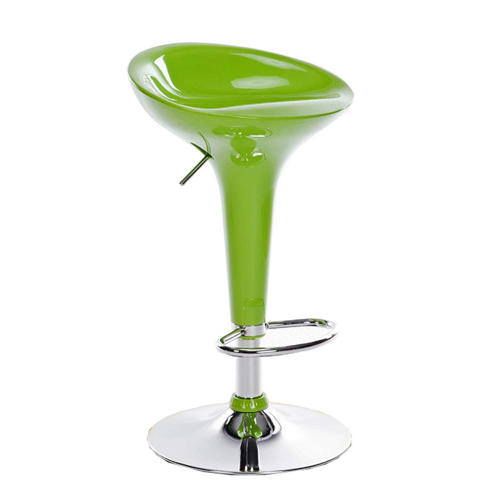 GREEN LJFYXZ Bar Stool Simple Multifunction redate Plating footrest 7 colors to Choose from Lifting Height 58-78cm (color   Royal bluee)