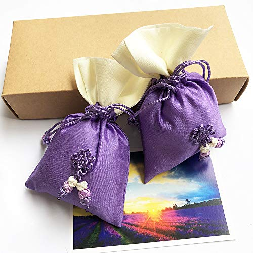 Lavender Sachet Decorative Dried Flowers Natural Aromatic Living Room Drawer Car Office Decoration by Yaying
