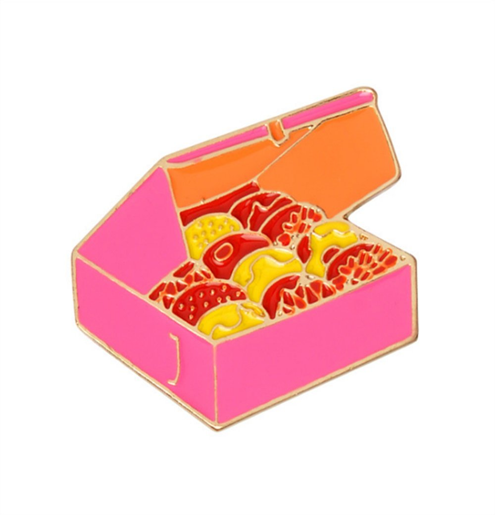 Enamel Pin Badge Souvenir Cookies Forme Broches Bouton Badge Vêtements Vêtements (colorés) TOUYOUIOPNG