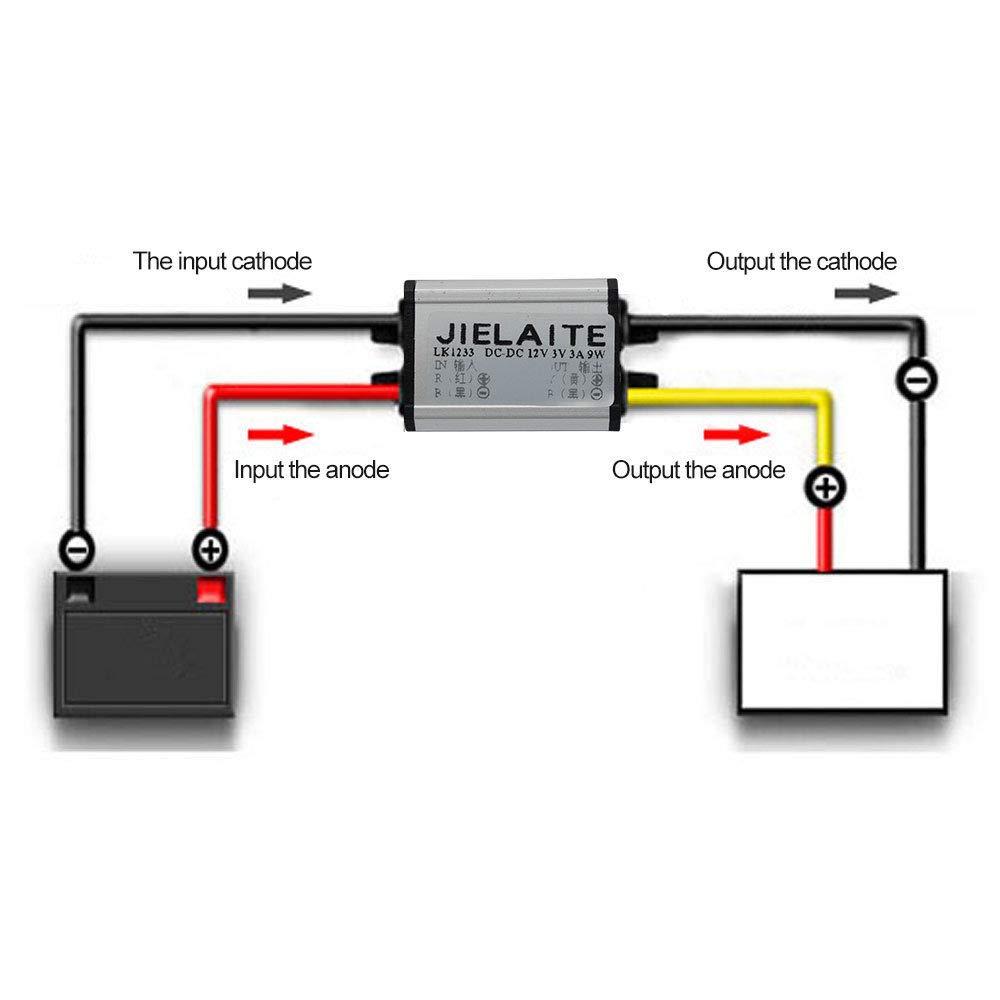 audio m/ódulo convertidor de alimentaci/ón para coche LED Dispaly motor etc. M/ódulo de alimentaci/ón SENRISE convertidor de 12 V a 3//3,3//3,7//5//6//9 V de fuente de alimentaci/ón