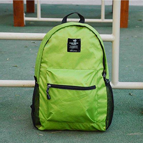 LWJgsa Plegable Bolsa De Hombro Hombres Y Mujeres Mochila Senderismo Bolsa Luz Dinero Viajar Portatil Bolsa De Almacenamiento Lago Azul Verde