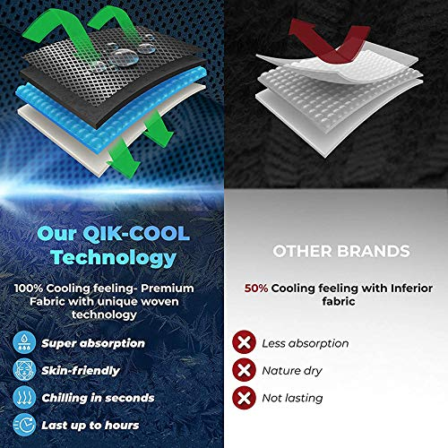 DeniseM117 Cooling Towel 3 Pcs Gym Ice Cooling Towels for Instant Cooling Relief Cool Cold Towel for Yoga Golf Travel Fast Drying Towel