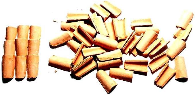 Generico ricevi 100 TEGOLE 10X15 MM Terracotta per PASTORI PRESEPE