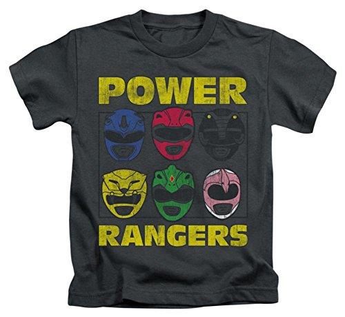 Juvenile: Power Rangers - Ranger Heads Kids T-Shirt Size (Mighty Morphin Power Rangers T-shirt)