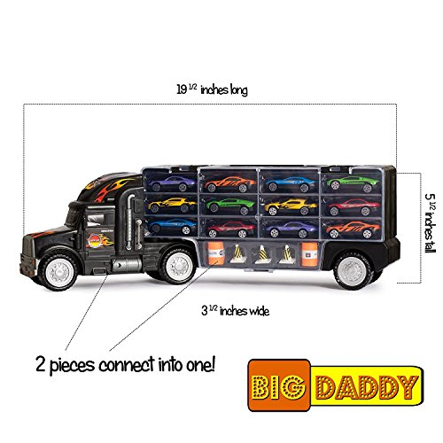 Big-Daddy Tractor Trailer Car Collection Case Carrier Transp