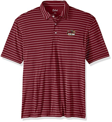 (Oxford NCAA Louisiana Monroe Warhawks Men's Turner Classic Stripe Polo Shirt, X-Large, Maroon)