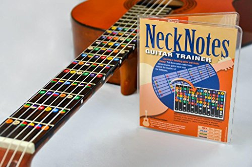 NeckNotes Guitar Trainer | Color Coded Fretboard Fret Map Note Stickers for Beginner / Learning Guitar | Classical Edition - Guitar Fretboard Map