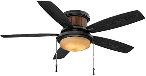 Hampton Bay Roanoke 48 in. LED Indoor/Outdoor Natural Iron Ceiling Fan