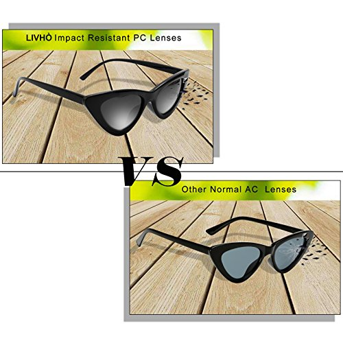 Livh-Retro-Vintage-Narrow-Cat-Eye-Sunglasses-for-Women-Clout-Goggles-Plastic-Frame