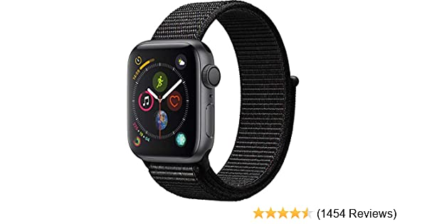 Apple Watch Series 4 (GPS, 44mm) - Space Gray Aluminium Case with Black Sport Loop