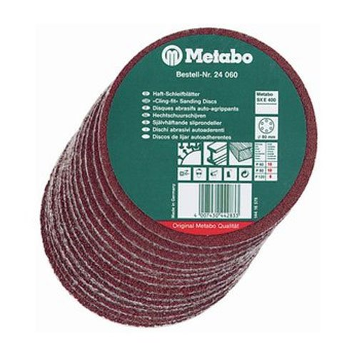 Metabo 624051000 P40 25 Cling-Fit Sanding Discs, 0 V, Green