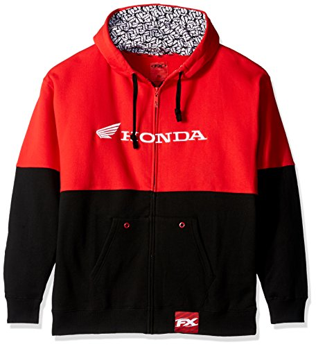 Factory Effex 15-88364 'Honda' Double Hooded Zip-up Sweatshirt (Black/Red, X-Large) from Factory Effex