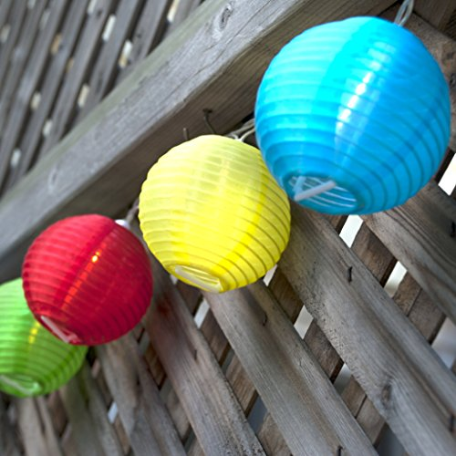 24 Multi Color Lantern String Lights Indoor Outdoor Mini