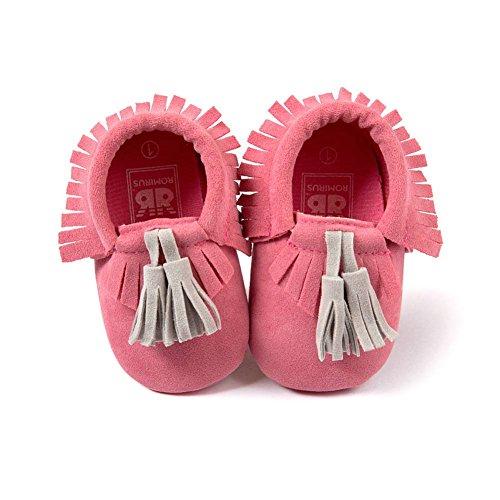 ESHOO recién nacido bebé suave soled zapatos de cuna Prewalker 0–18M PH Talla:0-6 meses XRH