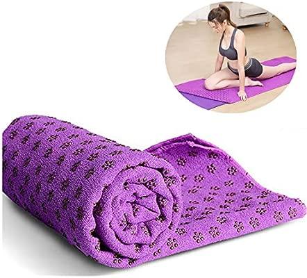 ZSZBACE Toalla para Yoga, con Superficie Antideslizante ...