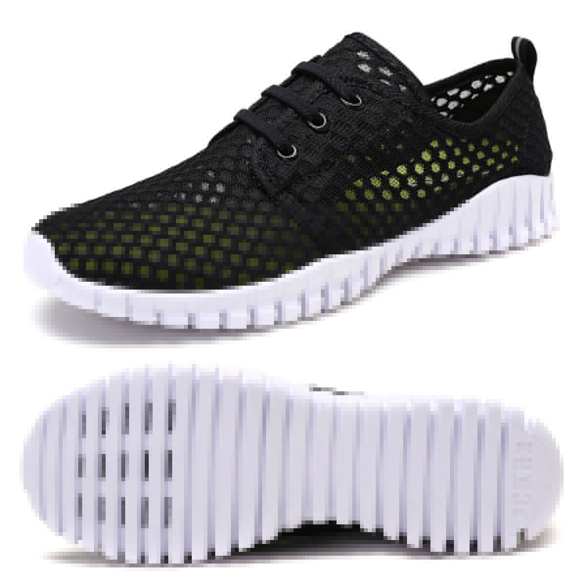 FCKEE Quick Drying Mesh Water Aqua Shoes for Men and Women,MBD,Black-35