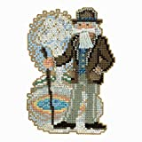 #10: Yellowstone Santa Beaded Counted Cross Stitch Ornament Kit Mill Hill 2018 National Park Santas MH201831
