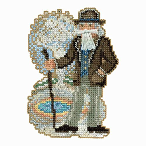 Yellowstone Santa Beaded Counted Cross Stitch Ornament Kit M