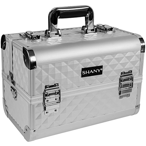 (SHANY Premier Fantasy Collection Makeup Artists Cosmetics Train Case - Silver)