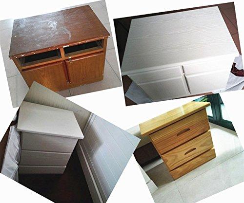 Moyishi Self Adhesive white wood grain furniture stickers PVC wallpaper cabinets Gloss Film Vinyl Counter Top Decal 24''x79'' by Moyishi (Image #6)