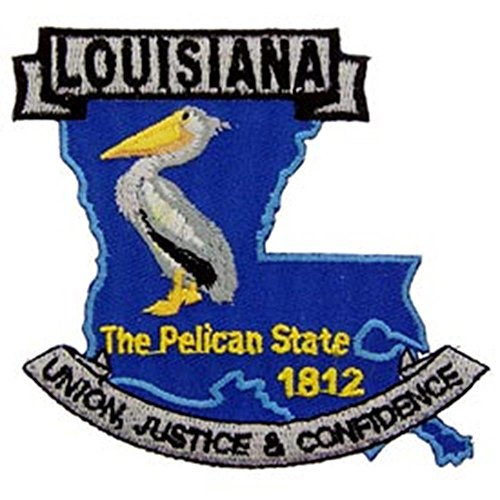 EagleEmblems PM6719 Patch-Louisiana (State Map) (3'') ()