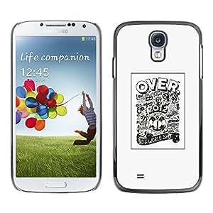 Shell-Star Arte & diseño plástico duro Fundas Cover Cubre Hard Case Cover para SAMSUNG Galaxy S4 IV / i9500 / i9515 / i9505G / SGH-i337 ( Over 2012 Football Soccer Cup Poster )