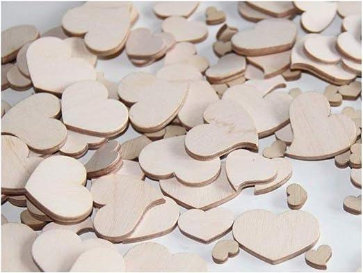 50 Streudeko Holz Herz  MR /& MRS Spruch Hochzeit Dekoherzen Streuteile Herz 3 cm