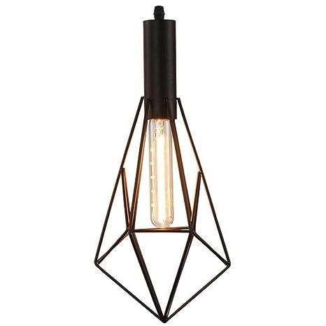 MUTANG Lámpara colgante industrial de luces, jaula de hierro ...