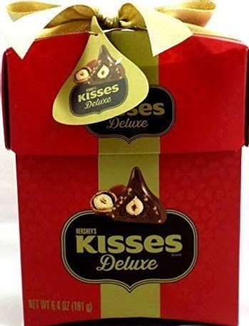 Hershey's Kisses Deluxe valentines Gift Box, 6.4 Oz