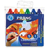 Prang Color Wands, Box of 6 Classic Color Crayons, Assorted Colors (47878)