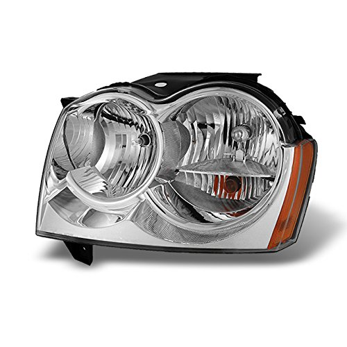 For 2005 2006 2007 Jeep Grand Cherokee LH Driver Left Side Clear Headlight Headlamp Replacement Assembly