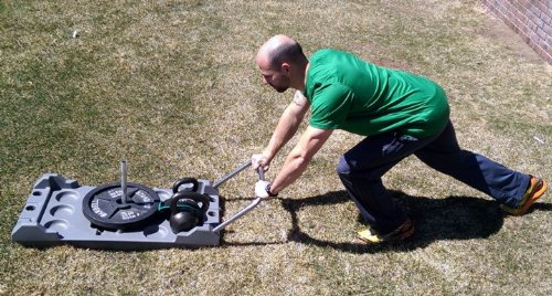 Multi Use Weight Sled & Anchor with Harness and Tow Strap by Railyard Fitness (Image #3)