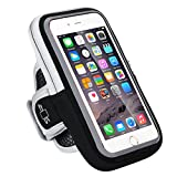 Iphone 7 Plus Armband, RISEPRO Waterproof Case Dry Bag Touchscreen Pouch for Jogging Outdoor Sports Climbing Running for Iphone 7, 6S Plus, 6S, 6, 5, Samsung, Google Smart Phone (Black)