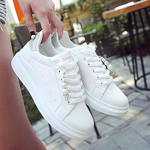 Todos Gunaindmx Mujer Cristal Zapatos Plataforma Grey Casuales De Los Moda Deporte Para Temporada Vulcanizados Zapatillas Perla PBfpwPxR