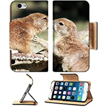 MSD Premium Apple iPhone 6 iPhone 6S Flip Pu Leather Wallet Case iPhone6 Kissing Prairi dogs 36132860