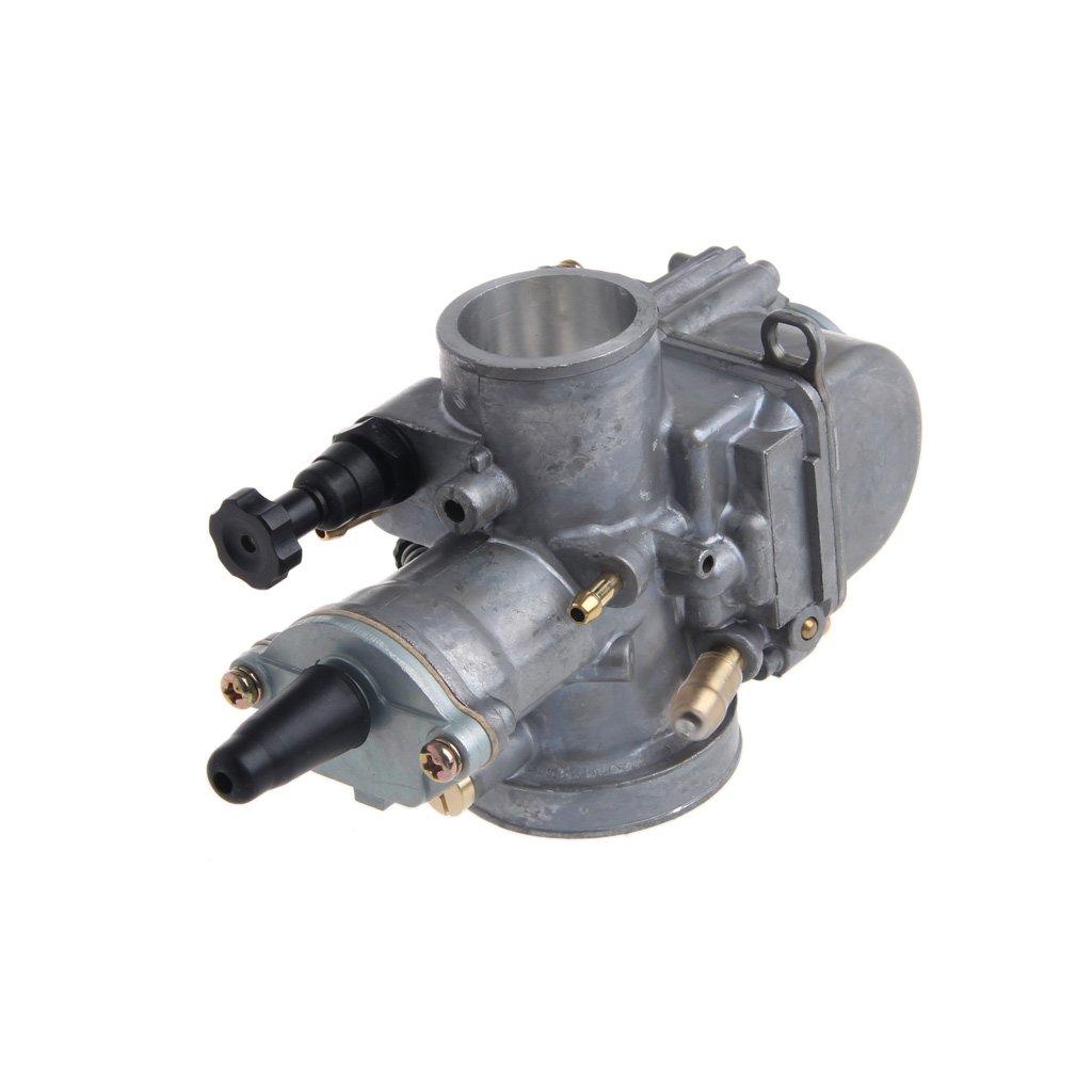 Runrain Carburador Universal de 24 mm para Motocicleta Keihin Carb PWK Mikuni con Chorro de Potencia