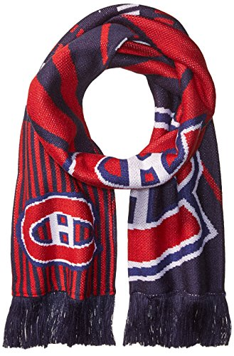 fan products of NHL Montreal Canadiens SP17 Arrow Knit Jacquard Scarf, Navy, One Size
