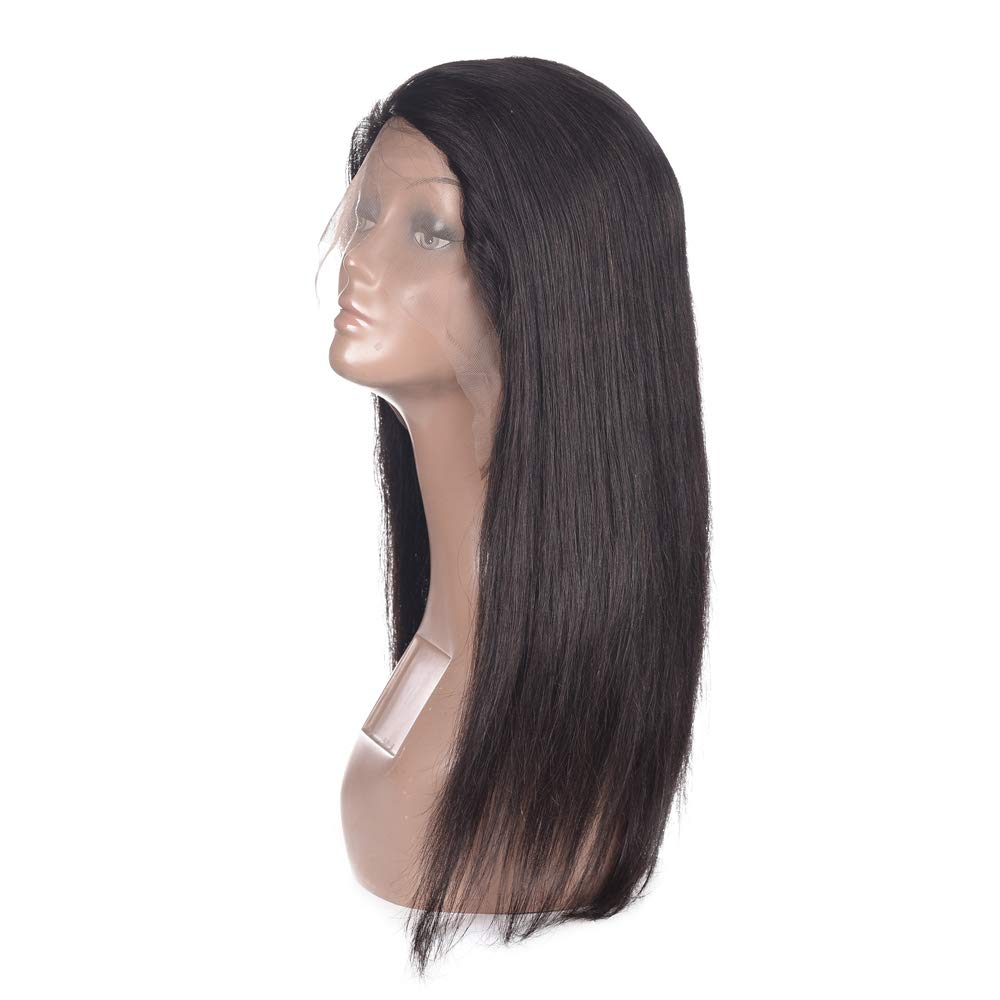 Brazilian Lace Front Human Hair Wigs For Women Remy Hair Straight Lace Front Wigs Pre plucked Hairline Full End Natural Black (10) by Barroko Hair