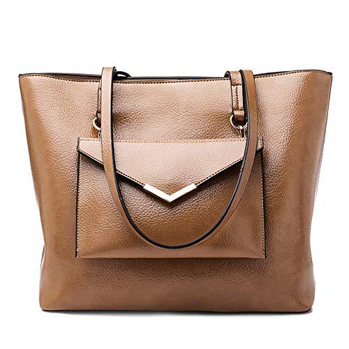 hobo satchel Rosado bolsos de 2pcs bolso Caqui de mano mujeres Set cartera las Bolsos Marrón Bn7q8YIw