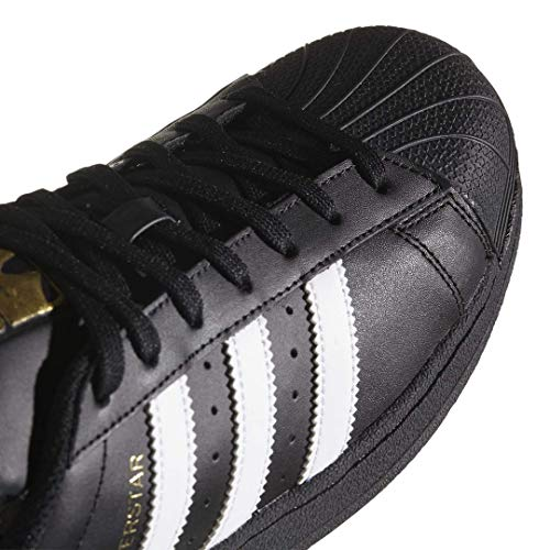 adidas Originals mens Superstar Sneaker, Core Black/White/Core Black, 10 US