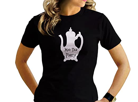 91ed0c69 Amazon.com: Gildan MAD Tea Party - Alice In Wonderland - We're All ...