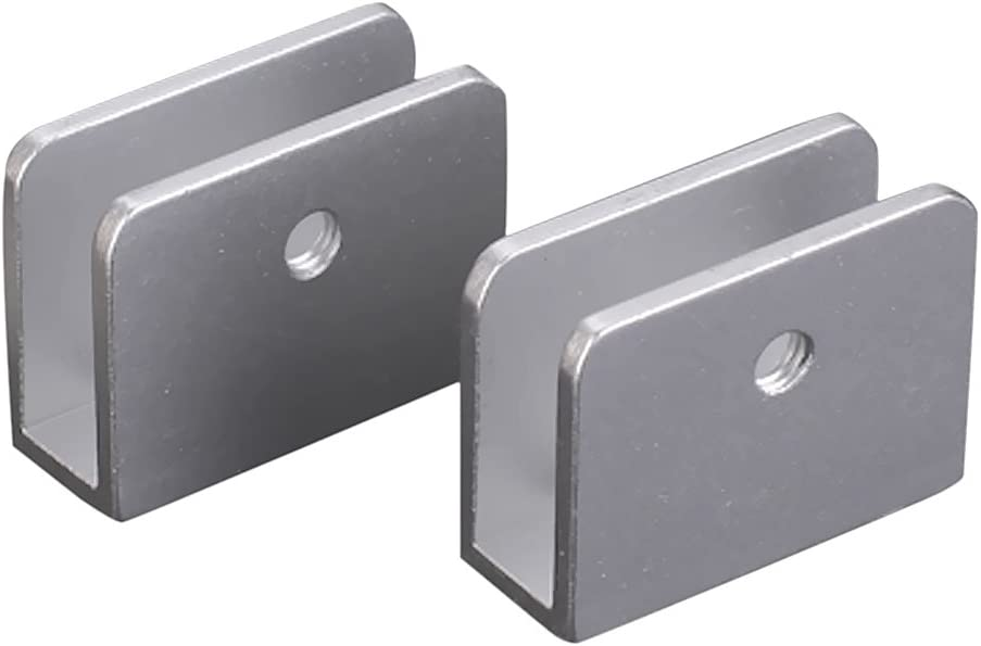 2 unidades, forma rectangular, con tronillos Soporte en clip para estantes de cristal