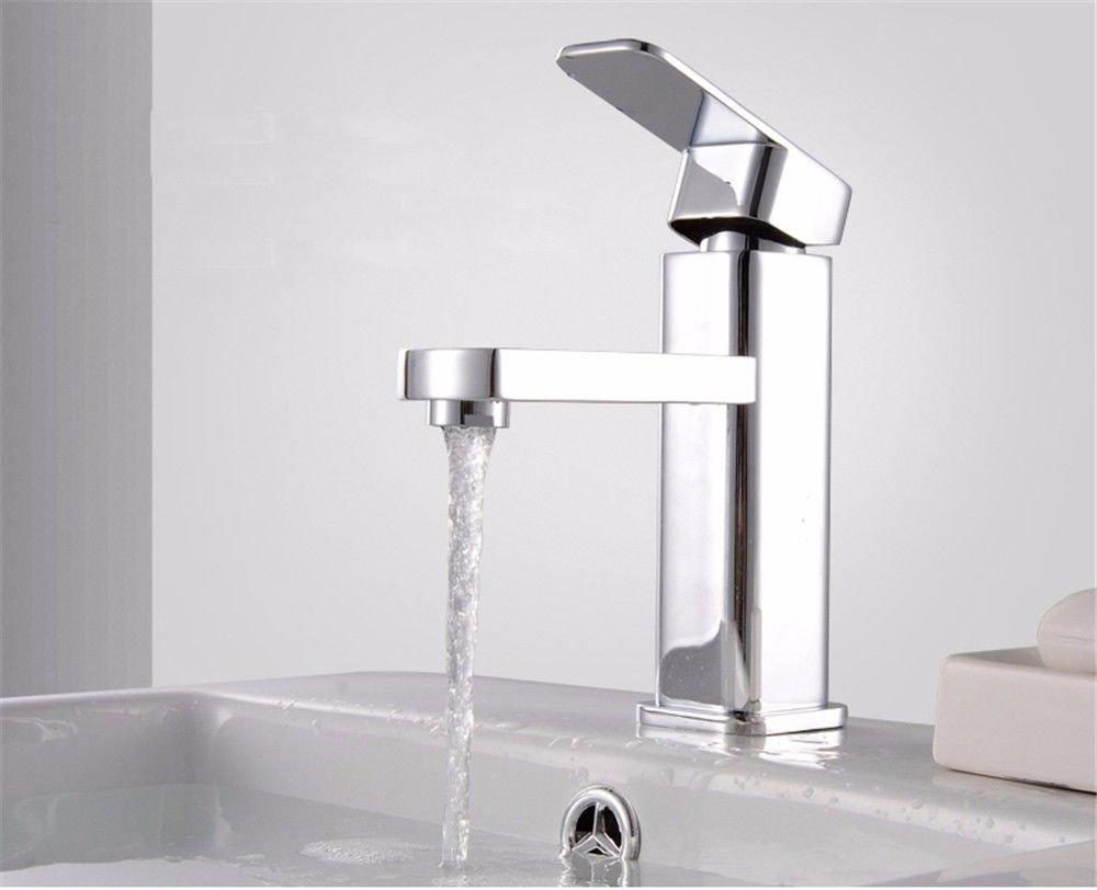 Bijjaladeva Antique Kitchen Sink Mixer Tap Simple Single Cold Basin Faucet Chrome color Stainless Steel Bathroom Kitchen Sink