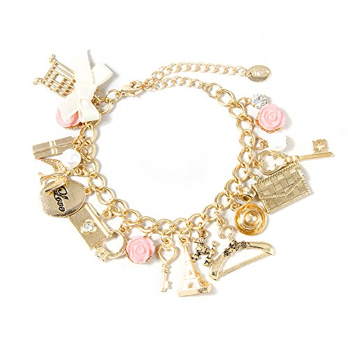 Claire's Paris Inspired Gold Charm Bracelet Girls Gold